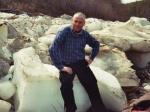Mai 2006 Eisschollen am Ufer des Chelonchan