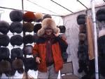 Fuchs und Zobel auf dem Jakutenmark in Mirnij