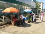 Straßenverkauf am Markt